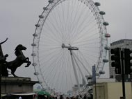 Statue Of Horse And London Eye