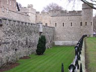 Ouside Wall Tower of London