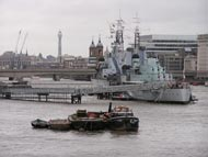 HMS Belfast From Tower Bridge
