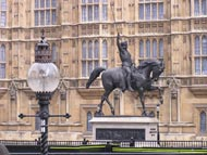 Horse Statue Outside Houses Of Parliament