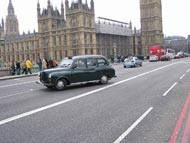 Houses Of Parliament And Black Cab