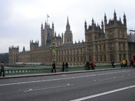 People Walking To Houses Of Parliament