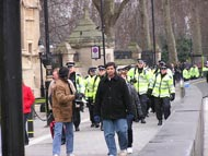 Police Outside Houses Of Parliament
