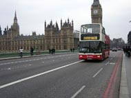 Red Bus And Houses Of Parliament