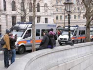Passing Vehicles In Trafalgar Square