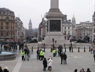 Police Officers In Trafalgar Square