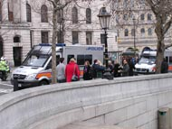 Police Vehicles In Trafalgar Square