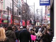 Buses And People In Oxford Street