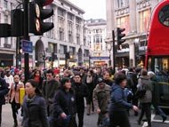 Traffic Lights In Oxford Street