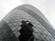 Gherkin Skyscraper In London City - Closeup