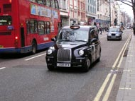 Oxford Street with Black Cab Taxi