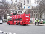 Red Double-Decker Bus in Westminster
